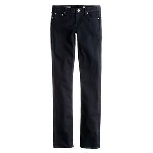 J. Crew Matchstick Jeans in Pitch Black Wash